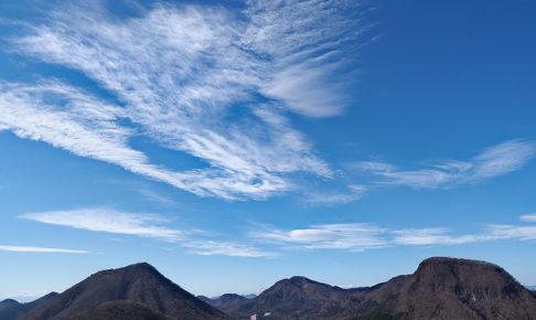 牛伏山から